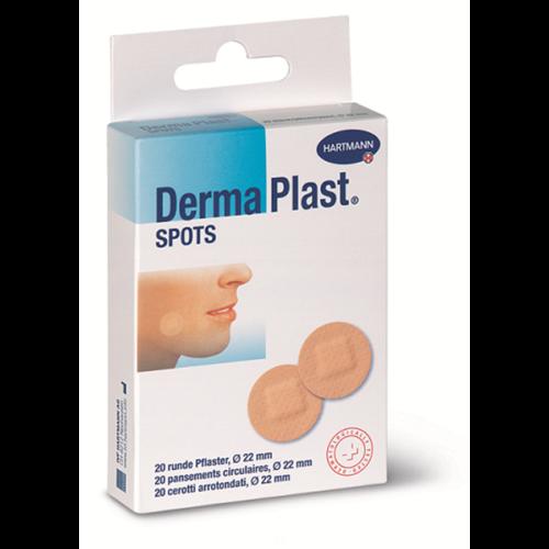 Dermaplast Spots Rund Hautfarbig 20 Stk