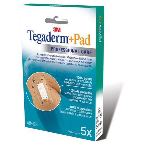 3M Tegaderm+Pad 5X7Cm Wundkissen 2.5X4Cm 5 Stk