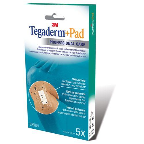 3M Tegaderm+Pad 6X10Cm Wundkissen 2.5X6Cm 5 Stk