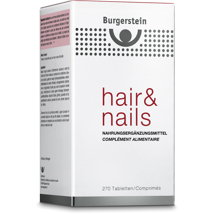 BURGERSTEIN HAIR & NAILS TABL 270 STK