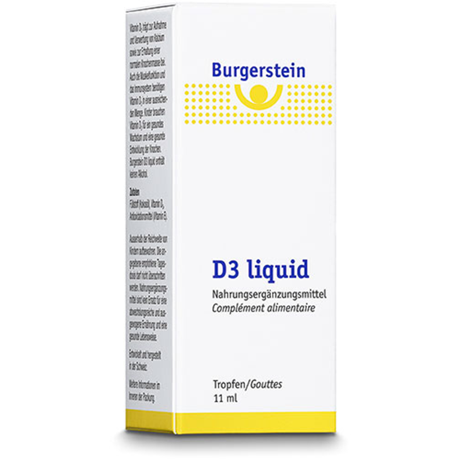 Burgerstein D3 Liquid Tropffl 11 Ml