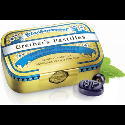 Grether's pastilles, Blackcurrant zuckerhaltig 110g