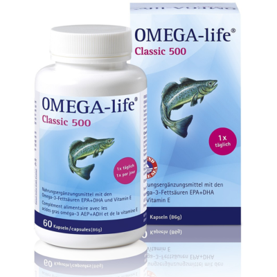 Omega-Life Gel Kapseln 500 Mg 60 Stk
