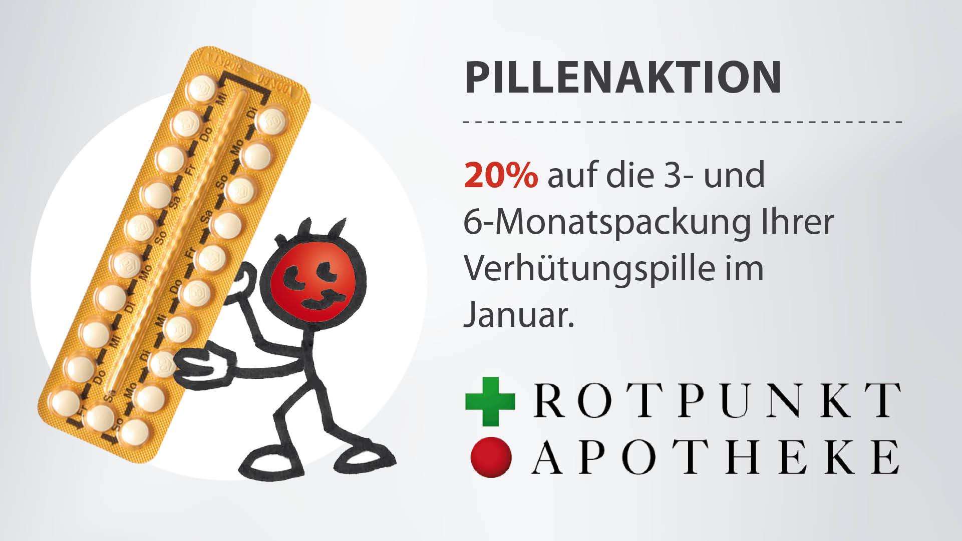 Pillenaktion 3- und 6-Monatspackung Verhütungspille im Januar
