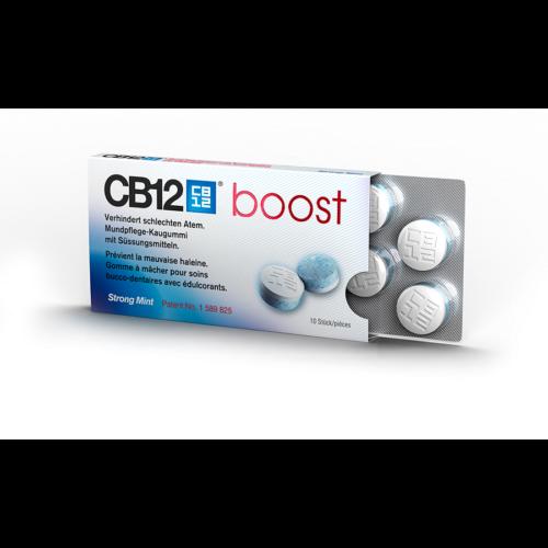 Cb12 Boost Mundpflege Kaugummi Strong Mint 10 Stk