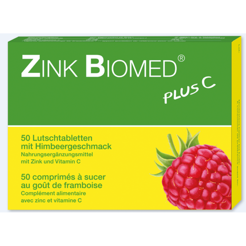 ZINK BIOMED plus C Lutschtabl Himbeer 50 Stk