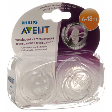 Avent Philips Nuggi transparent 6-18 Monate assortiert