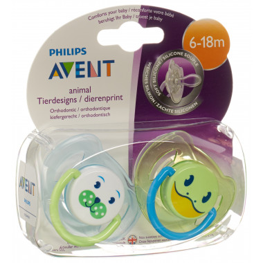 Avent Philips Nuggi Tierchen 6-18 Monate