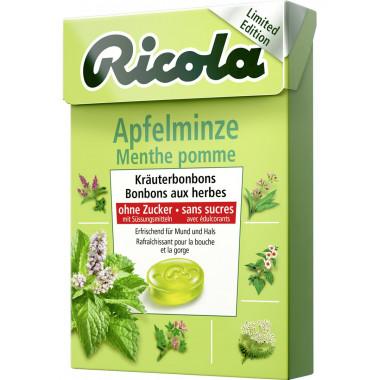 Ricola Apfelminze Bonbons ohne Zucker mit Stevia