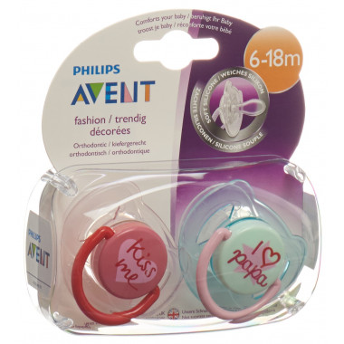 Avent Philips Beruhigungssauger Ilove-Kiss 6-18 Monate Girl