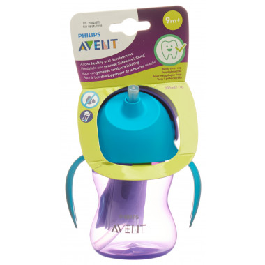 Avent Philips Strohhalm-Becher 200ml Girl lila