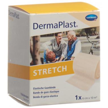 DermaPlast STRETCH elastische Gazebinde 6cmx10m hautfarbig