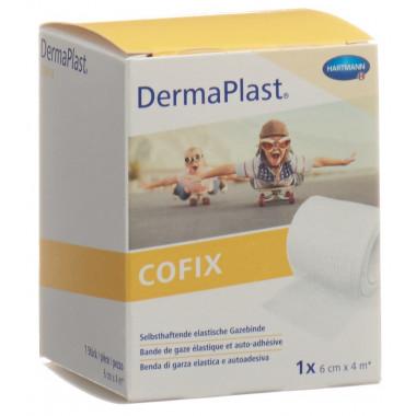 DermaPlast Cofix Gazebinde 6cmx4m weiss