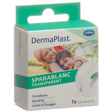 DermaPlast Sparablanc Transparent 2.5cmx5m weiss