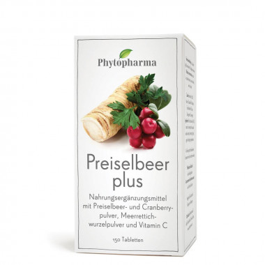 Phytopharma Preiselbeer plus Tablette