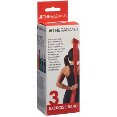 TheraBand 2.5mx12.7cm rot mittel stark