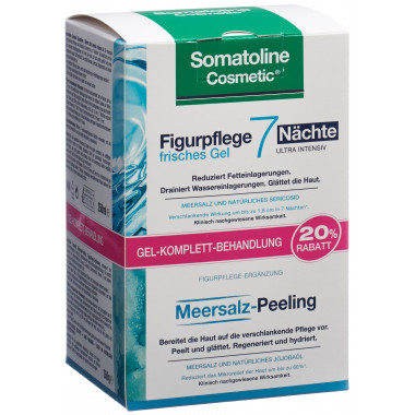 Somatoline Cosmetic 7 Nächte Gel 250ml +Meersalz-Peeling 350g
