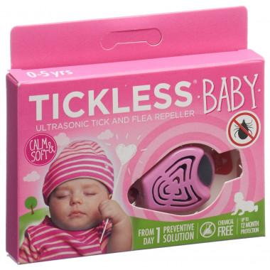 Tickless Baby Zeckenschutz rosa