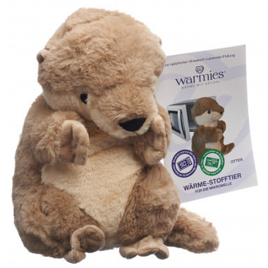 Warmies Wärme-Stofftier Otter Lavendel-Füllung removable pack